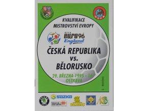 Program fotbal ČR vs. Bělorusko, 1995