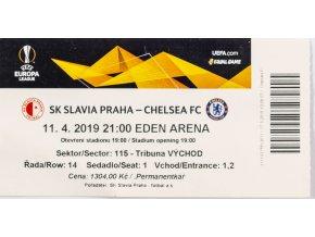 Vstupenka fotbal SK Slavia Praha v. Chelsea FC, 2019