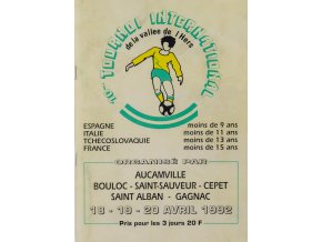 Program fotbal, Tournoi International, 1992
