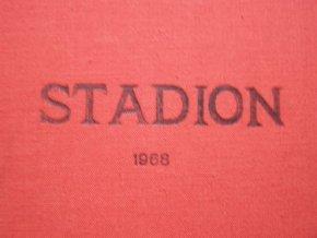 Kompletní svázaný časopis Stadion rok 1968 v tvrdé plátěnné vazbě