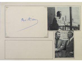 Sběratelská karta, Pepi Bican, autogram, fotografie