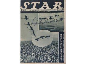 Časopis STAR, Pražské nebe patřilo v neděli letcům Č. 24 ( 534 ), 1936