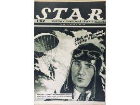 Časopis STAR, Skok do neznáma z výšky 9 kilometrů Č. 43 ( 501 ), 1936 (1)