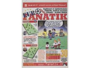 Výstřižek z časopisu FANATIK, Steaua v. Slvaia Praha,