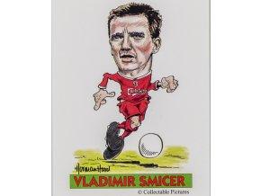 Kartička fotbal Collectable pictures, Liverpool FC, Vladimir Smicer, 2005 (1)