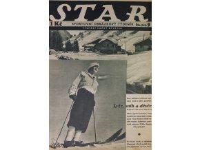 Časopis STAR, Lyže , sníh a děvče Č. 9 ( 519 ), 1936 (1)