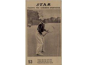 Kartička z časopisu STAR, 53, Vlasta Burian při hře