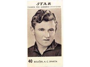 Kartička z časopisu STAR, 40, FBouček, A.C. SPARTA