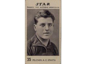 Kartička z časopisu STAR, 35, Pelcner, AC Sparta