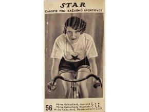 Kartička z časopisu STAR, 56, Mirka Kalouchová, mistrně Č.S.R