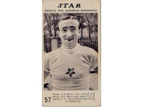 Kartička z časopisu STAR, 57, Haupt, SK Slavia, cykl.mistr Č.S.R