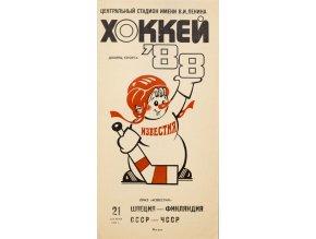 Program Hokej IZVJESTIJA 1988 CCCP vs.ČSSR