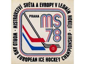 Samolepka 1978, MS Hokej Praha , bílá