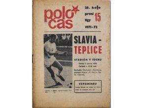 Program Slavia vs. Teplice, 197172 (1)