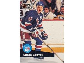 Hokejová kartička, Adam Graves, New York Rangers, 1991