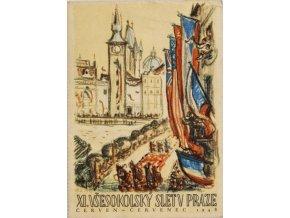 Pohlednice XI.Všesokolský slet v Praze, 1948 VI (1)