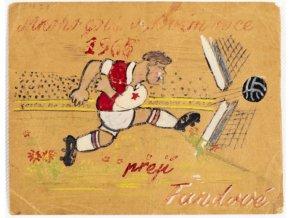PF 1965, Kresba, Mnoho gólů v Novém roce 1965 přejí Fandové Slavie.