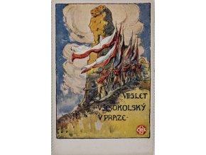 Dopisnice VII. slet všesokolský v Praze, DO K. Nejedlého, 1920 (1)