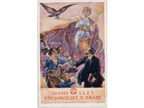 Dopisnice VII. slet všesokolský v Praze, DO K. Stroffa, 1920 (1)