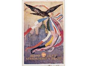 Dopisnice VII. slet všesokolský v Praze, DO K. Stroffa, 1920 II (2)