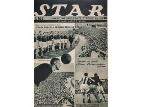 Časopis STAR, Sparta porazila Ferencvaros a je vítězem Středoevropského poháru č. 38 ( 496 ), 1935 (1)
