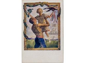 Dopisnice Sokol, VIII. všesokolský slet v Praze 1926, DO Krupce (1)