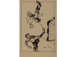Dopisnice humor, Niky Sportovní karikatury B č. 2 (1)