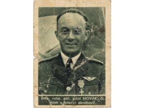 Kartička , Album sportovců, pilot Novák č. 82 (1)
