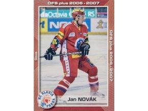 Hokejová kartička, Jan Novák, HC Slavia Praha, 2006 (1)