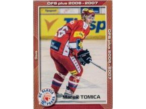 Hokejová kartička, Marek Tomica, HC Slavia Praha, 2006 (1)
