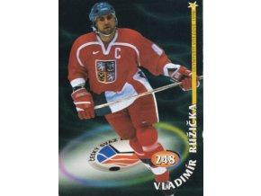 Hokejová kartička, Vladimír Růžička, HC Slavia Praha, 1998 (1)