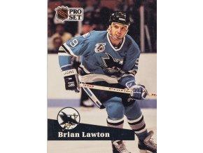 Hokejová kartička, Brian Lawton, San Jose Sharks, 1991 (1)