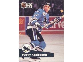 Hokejová kartička, Perry Anderson, San Jose Sharks, 1991 (1)
