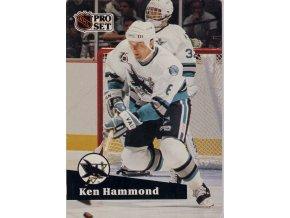 Hokejová kartička, Ken Hammond , San Jose Sharks, 1991 (1)