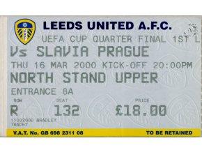 Vstupenka fotbal Leeds United vs. Slavia Prague