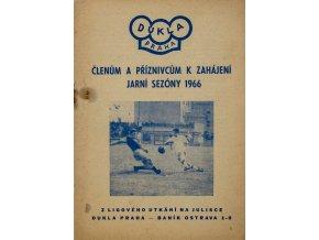 Dukla zpravodaj, Dukla Praha vs. Baník Ostrava, 1966