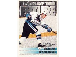Hokejová kartička, Sandis Ozlolinsh, San Jose Sharks, 1994 (1)