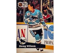 Hokejová kartička, Doug Wilson, San Jose Sharks, 1991 (1)