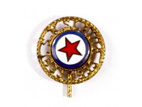 Výroční odznak řezaný S.K.Slavia Praha, smalt , 1933 (1) 1