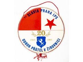 Vlajka TJ SLAVIA PRAHA , 20 let OP v Žirovnici