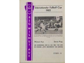 Program IFC, Wismut Aue v Slavia Prag, 1985 (1)