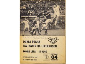 Program UEFA, Dukla Praha TSV Bayern 04 Leverkusen, 1986