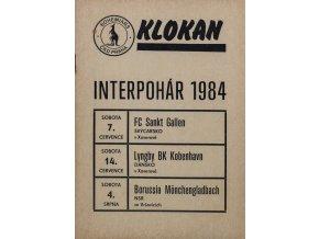 Program KLOKAN, Interpohár, Gallen, Kobenhavn, Borussia, 1984
