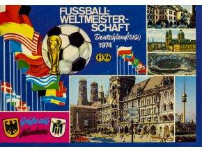 Pohlednice Fussball Welltmeisterschaft Deutscheland, 1974 (1)