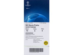 Vstupenka UEFA CHL, Borussia Dortmund v. SK Slavia Praha, obal, 201920 (1)