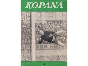 Časopis Kopaná , Duben 1960 (1)