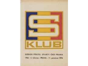 Propagační materiál Odboru přátel Sparty, fotbal, hokej, 1976 (1)