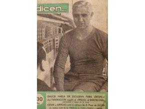 Časopis Dicen, Daučík, Titulo de Barcelona, 1953 (1)