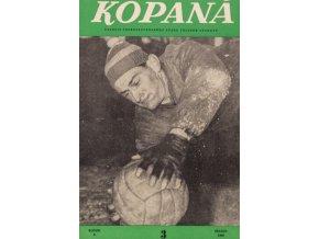 Časopis Kopaná , Březen 1960