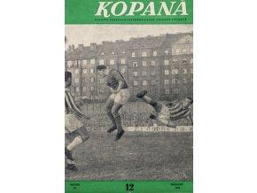 Časopis Kopaná , Prosinec 1959